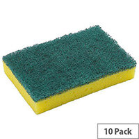 Washing Up Pad Scourer and Sponge Pack of 10