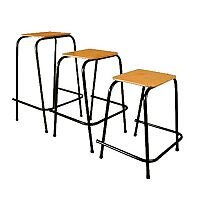 Student Stool Stackable 450mm High  #SSC