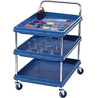 Deep Ledge Trolley 3-Tier Blue BC2030-3DBU 310779