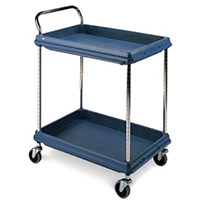 Deep Ledge Trolleys With 2 Blue Shelves 984 x 689mm