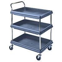 Deep Ledge Trolley PBC2030-3DBU 3-Tier Shelves 832 x 546mm Blue 322445