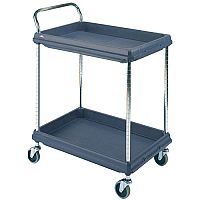 Deep Ledge Trolley PBC2636-2DBL 2 Shelves Black 322447