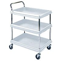 Deep Ledge Trolleys With 2 Shelves in Grey 365296