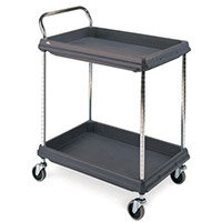Deep Ledge Trolley PBC2636-2DBL 2-Tier Black 375054