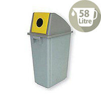 Waste Paper Gathering Recycling Bin C 58 Litre 124713