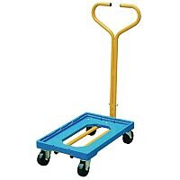 Plastic Dolly with Handle Blue 250kg Capacity Ref 365127