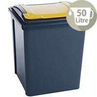 VFM Recycling Bin Yellow 50Ltr 124597