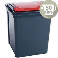 VFM Recycling Bin Red 50Ltr 124596