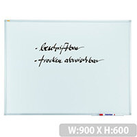 Franken Whiteboard ValueLine 900x600mm Non-Magnetic SC3002