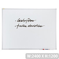 Franken ValueLine Whiteboard Plastic Coated Surface 2400x1200mm SC3006