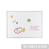 Franken ECO Magnetic Whiteboard Lacquered Steel 1800 x 900mm White SC4107