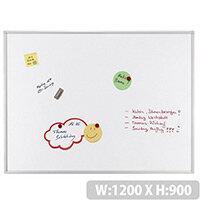 Franken ECO Enameled Magnetic Whiteboard 1200 x 900mm White SC4203