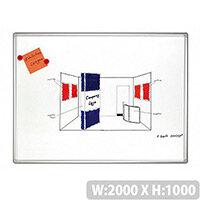 Franken PRO Enameled Magnetic Whiteboard 1000x2000mm White SC8204