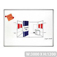 Franken PRO Enameled Magnetic Whiteboard 1200x3000mm White SC8210
