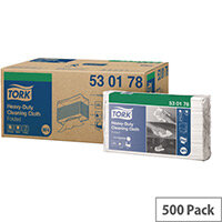 Tork Heavy Duty Cleaning Cloth W4 Refill 100 Sheets per Pack White Pack 5 (500 Clothes in Total) 530178