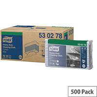 Tork Heavy Duty Cleaning Cloth W4 Refill 100 Sheets per Pack Blue Pack 5 (500 Clothes in total) 530278