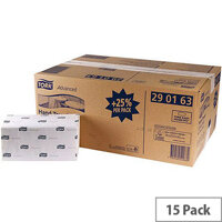Tork Soft Single I Fold Paper Hand Towel 250 Towels Per Sleeve 15 Sleeves (3750 Sheets) 290163