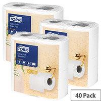 Tork Extra Soft Toilet Tissue Rolls White 200 Sheet 2 Ply (Pack of 40) 120240