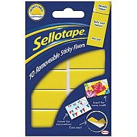 Sellotape Removable Sticky Fixers Pack of 10 Pads 20 x 40mm 484345
