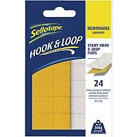 Sellotape Hook and Loop Removable Pads Pack of 24 2055468