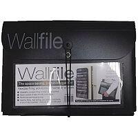 Cathedral 7-Pocket Portable Wall File Black EXPWALBK