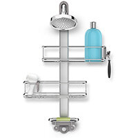 Simplehuman Adjustable Shower Caddy Stainless Steel & Anodised Aluminium BT1098