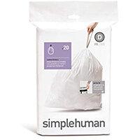 Simplehuman Custom Fit Bin Liners Code D 20L, Pack of 20 CW0163