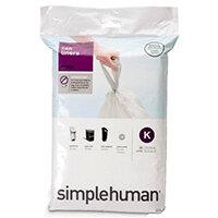 Simplehuman Custom Fit Bin Liners Code K 35-45L, Pack of 20 CW0171