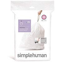 Simplehuman Custom Fit Bin Liners Code M 45L, Pack of 20 CW0173