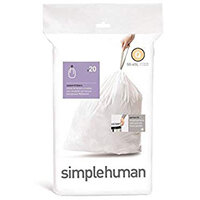 Simplehuman Custom Fit Bin Liners Code Q 50-65L, Pack of 20 CW0176