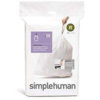 Simplehuman Custom Fit Bin Liners Code R 10L, Pack of 20 CW0201