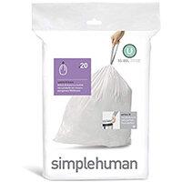 Simplehuman Custom Fit Bin Liners Code U 55L, Pack of 20 CW0217