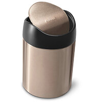Simplehuman Table Top Bin 1.5L Rose Gold Steel CW1644CB