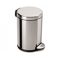 Simplehuman Round Steel Bin 4.5L Pedal Operated Polished Stainless Steel CW1851CB