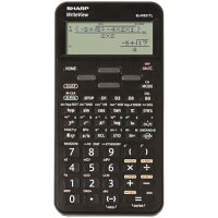 Sharp WriteView SH-ELW531TLBBK Scientific Calculator Dot Matrix Display - Battery Powered - 4-line 335 Functions 2-key - 335 Functions 80x15x161mm Blk Ref SH-ELW531TLBBK