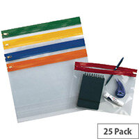 Snopake Zippa Bag S A3 Pack of 25 Assorted 12823