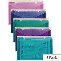 Snopake Polyfile Trio Electra A4 Assorted Pk5 14967