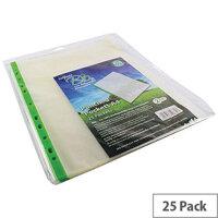 Snopake Bio Punched Pocket A4 Clear Pk 25 15439