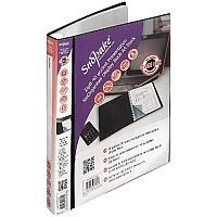 Snopake ZipIt ReOrganiser 40 Pocket Black Presentation Display Book 15780