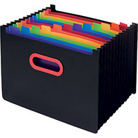 Snopake 13 Part Desk Expander A4 Rainbow/Black 15851