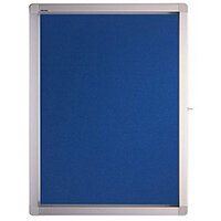 Franken Display Case ECO Outdoor Felt Blue 4 x A4 SK4PTE03