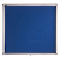 Franken Display Case ECO Outdoor Felt Blue 6 x A4 SK6PTE03