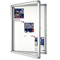 Franken Display Case ECO Outdoor Magnetic Whiteboard 9 x A4 SK9SE