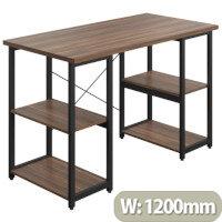Soho Eaton Home Office Desk W1200mm Walnut Desktop & Black Metal Frame