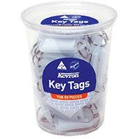 Kevron Standard Key Tags Clear Pack of 50 ID5TUB50CLR