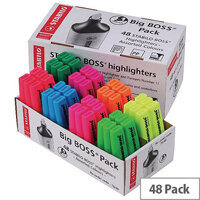 Stabilo Boss Highlighter Pens Retail Assorted Colours Pack of 48