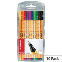 Stabilo Point 88 Fineliner Pen Wallet of 10 Assorted 8810