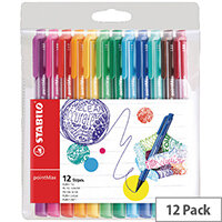 Stabilo pointMax Fineliner Assorted Pack of 12 488/12-01