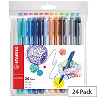 Stabilo pointMax Fineliner Assorted Pack of 24 488/24-01