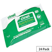 Clinell Universal Sanitising Wipes Pouch Pack 40 Wipes in Each (Pack of 24) GCW40